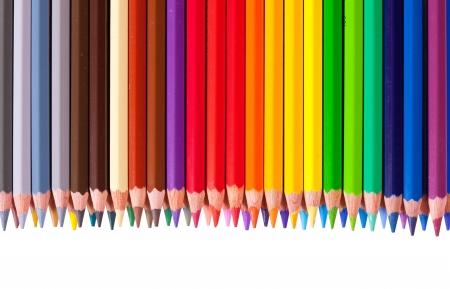 copyspase: Border from multicolored pencil with copyspase
