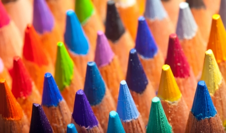 Close up of many pencils  background photo
