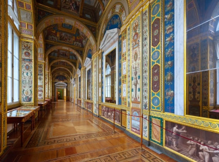 imrepator: ST.PETERSBURG, RUSSIA - AUGUST 1: Interior of State Hermitage in August 1, 2012 in St.Petersburg, Russia. State Hermitage was founded in 1764. Now it is largest in Russia and one of largest museums
