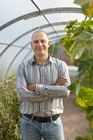Portrait of  man in greenhouse photo