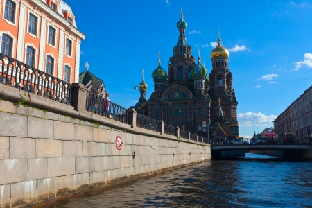 Church of the Savior on Spilled Blood in St. Petersburg in summer. Russia photo