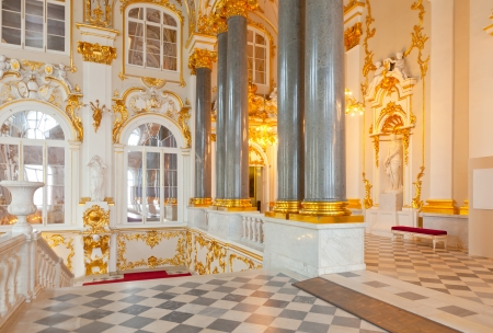 imrepator: ST.PETERSBURG, RUSSIA - AUGUST 1: Interior of State Hermitag in August 1, 2012 in St.Petersburg, Russia. State Hermitage was founded in 1764. Now it is largest in Russia and one of largest art museums Editorial