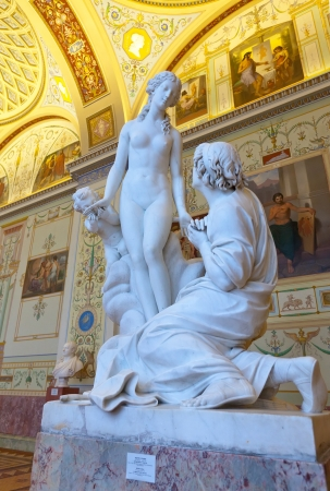 imrepator: ST.PETERSBURG, RUSSIA - AUGUST 1:  Marble sculpture in Hermitage in August 1, 2012 in St.Petersburg, Russia. State Hermitage was founded in 1764. Now it is largest in Russia and one of largest museums
