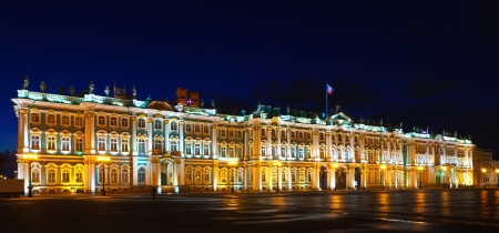 Winter Palace in Saint Petersburg in night