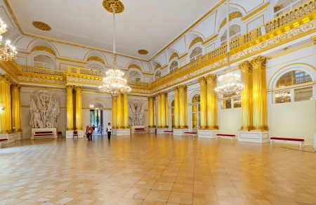 ST.PETERSBURG, RUSSIA - AUGUST 1: Interior of Winter Palace in August 1, 2012 in St.Petersburg, Russia. State Hermitage was founded in 1764. Now it is largest in Russia and one of largest art museums Stock Photo - 15438346