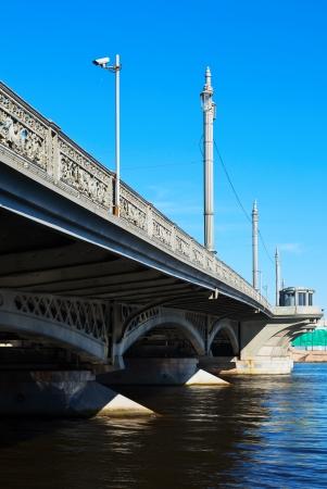 blagoveshchensky: View of St. Petersburg.  Blagoveshchensky (Annunciation) Bridge in summer day Stock Photo