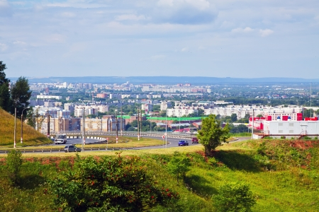 nizhni novgorod: Summer view of industry district of Nizhny Novgorod. Russia