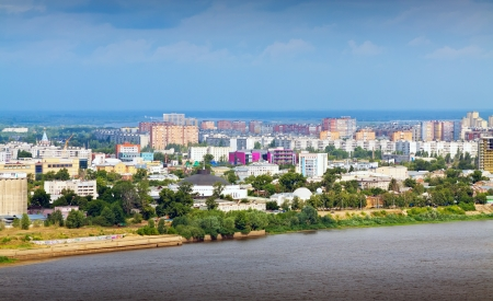 residential settlement: residential district at Nizhny Novgorod in summer. Russia Stock Photo