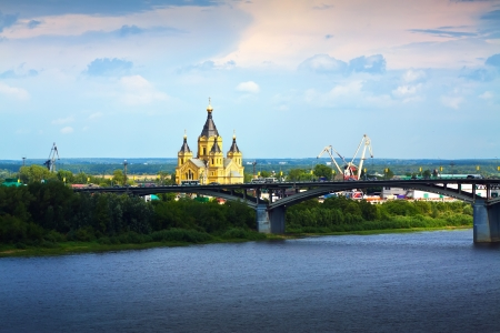 View of Nizhny Novgorod. Kanavinsky bridge   photo