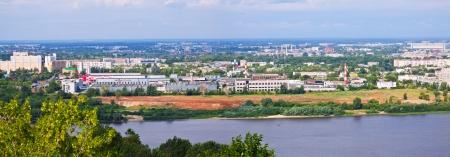 gorky: Panorama of Nizhny Novgorod with Oka river. Russia