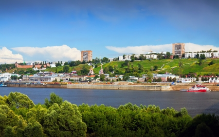 historic district: Summer view of historic district of Nizhny Novgorod. Russia Stock Photo