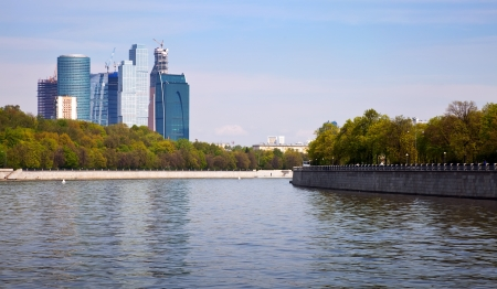 conceived: MOSCOW, RUSSIA - MAY 6: Moscow International Business Center (Moscow IBC) in May 6, 2012 in Moscow, Russia. First conceived the project in 1992. Total cost of the project is estimated at $12 billion