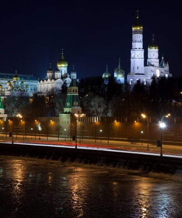 View of Moscow Kremlin in winter night. Russia Stock Photo - 15640913