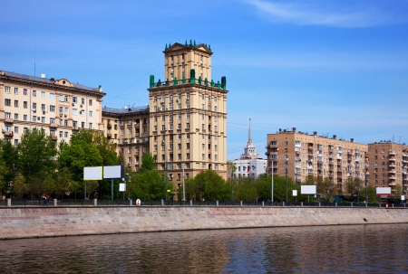 View of Moscow. Berezhkovskaya embankment  in spring day photo