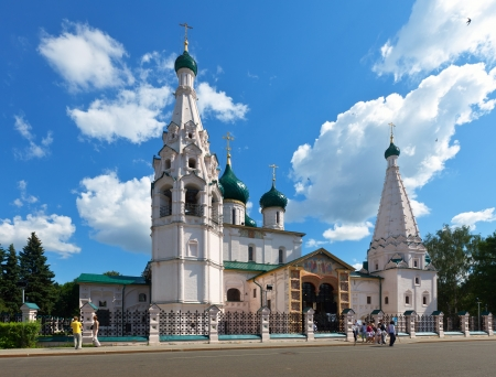 resumed: YAROSLAVL, RUSSIA - JULY 28: Church of Elijah Prophet in July 28, 2012 in Yaroslavl, Russia. Church was built in 1647�50. From 1920 to 1989 in church was museum. Currently, religious services resumed Editorial