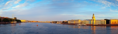 Panoramic view of Neva river. Saint Petersburg, Russia photo