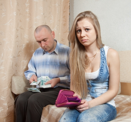 covetous: Financial problems have a husband and wife