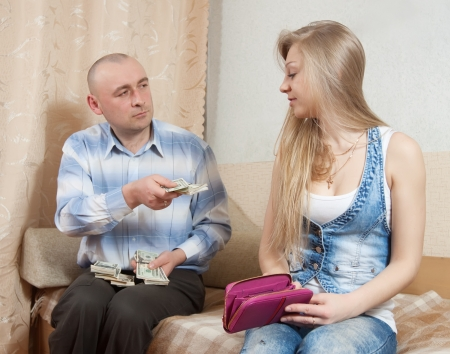 Financial problems have a husband and wife Stock Photo - 15691211