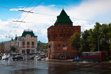 kreml: Kremlin street at Nizhny Novgorod in summer. Russia