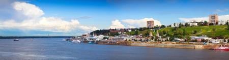 nizhni novgorod: Summer view of historic district of Nizhny Novgorod. Russia Stock Photo
