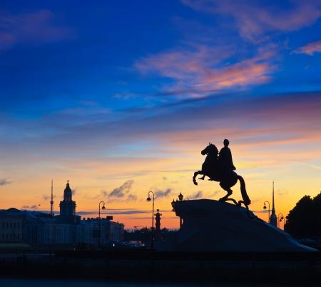 horseman: Il Cavaliere di Bronzo a San Pietroburgo, Russia Archivio Fotografico