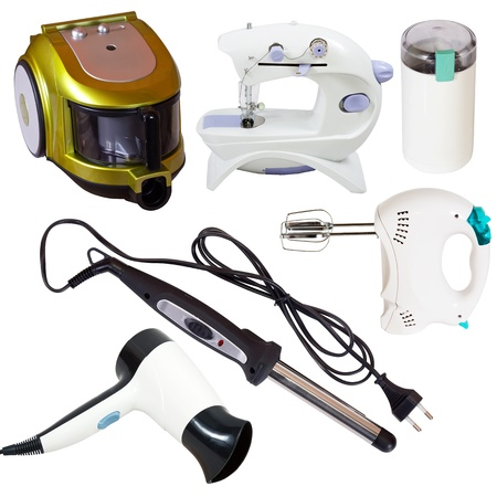household appliances: Set of  household appliances