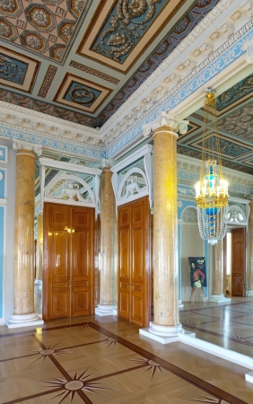 imrepator: ST.PETERSBURG, RUSSIA - AUGUST 3: Interior of Stroganov Palace in August 3, 2012 in St.Petersburg, Russia.  Palace was built to Rastrellis designs in 1753-1754. Now - a branch of the Russian Museum