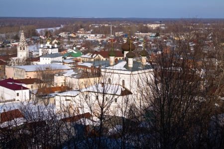 Panoramic view of Gorokhovets in winter. Russia Stock Photo - 15753597