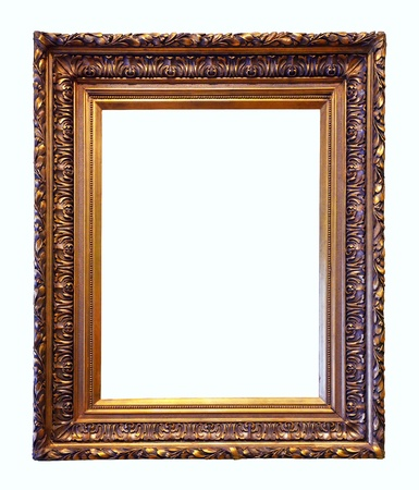 old antique gold frame photo