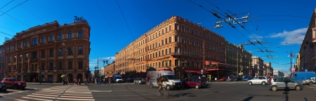 nevsky prospect: ST.PETERSBURG, RUSSIA - AUGUST 2: Nevsky Prospect in August 2, 2012 in St.Petersburg, Russia. Prospect came shortly after founding of city in 18th century. Now it is main street, length of 4.5 km Editorial