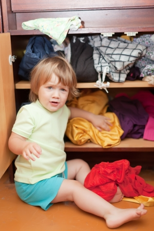 scallywag:  Baby girl  chooses dress in parents closet