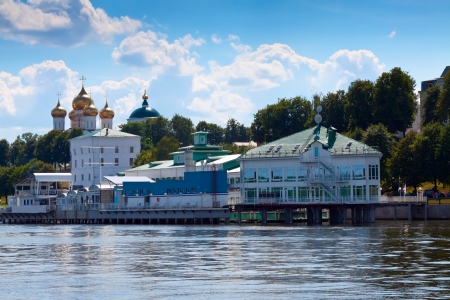 the volga river: view of Yaroslavl from Volga river. Russia