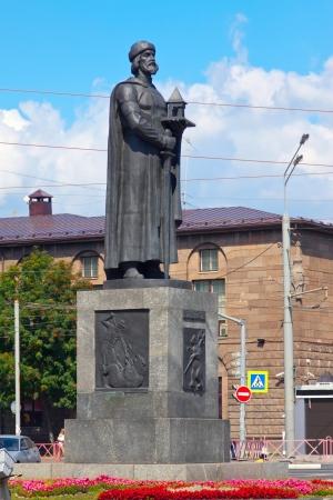 street wise: monument of Yaroslav the Wise in Yaroslavl. Russia Stock Photo