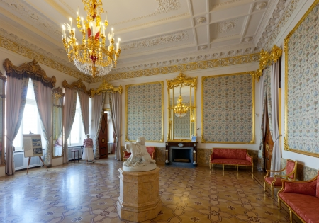 ST.PETERSBURG, RUSSIA - AUGUST 3: Interior of Stroganov Palace in August 3, 2012 in St.Petersburg, Russia.  Palace was built to Rastrelli's designs in 1753-1754. Now - a branch of the Russian Museum Stock Photo - 15942936