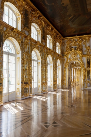 ST.PETERSBURG, RUSSIA - AUGUST 2: Interior of Catherine Palace in August 2, 2012 in St.Petersburg, Russia. The former imperial palace.  Building is laid in 1717 on orders of Catherine I. Now a museum Stock Photo - 16089210