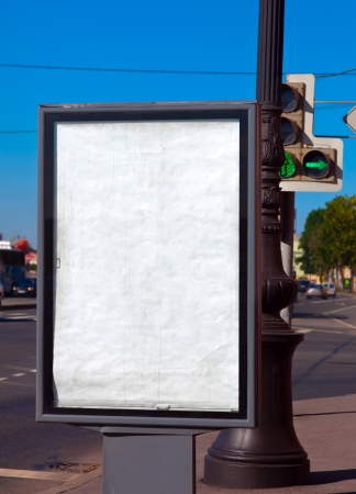 advertisers: Blank billboard for advertisers to place ad copy samples on street