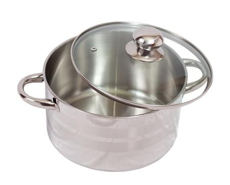 Metallic pan. Isolated on white background Stock Photo - 16067304