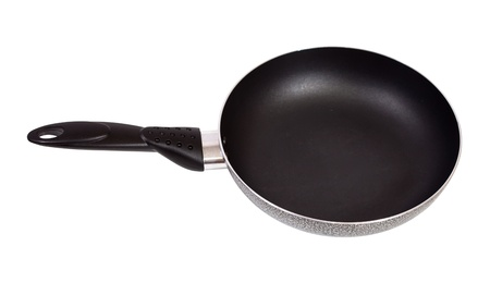 panful: New griddle. Isolated over white background