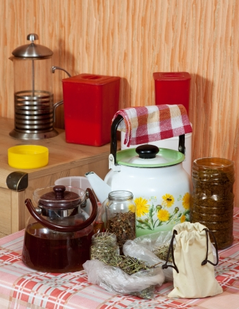 concoct: herbs at home kitchen ready for brews