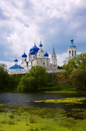 bogolyubovo: Summer view of nunnery. Bogolyubovo, Vladimir region, Golden Ring of Russia