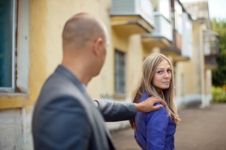 molestation: The man stops woman on city street