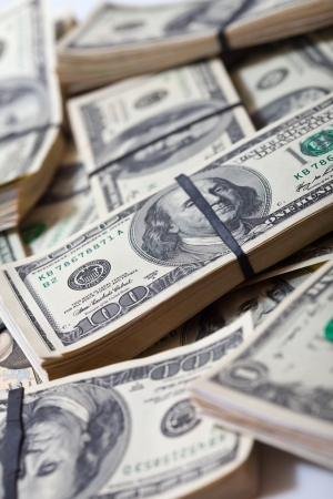 Many  $ 100 banknotes background Stock Photo - 16326036