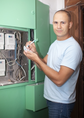 utility payments: Man rewrites electric power meter readings at house