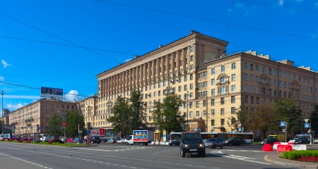 95: ST.PETERSBURG, RUSSIA - AUGUST 2: Moskovsky Prospect in August 2, 2012 in St.Petersburg, Russia. One of the most important transport routes of the city. Length Avenue - 9.5 km