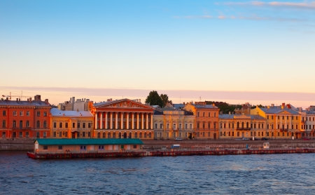 view of St. Petersburg. English Embankment in morning Stock Photo - 16433430