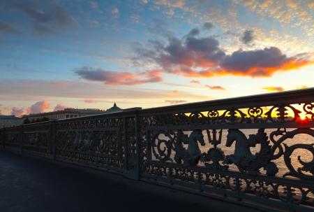 blagoveshchensky: View of St. Petersburg.  Close up of Blagoveshchensky (Annunciation) Bridge in morning