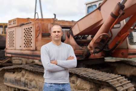 spalpeen: Portrait of tractor operator at workplace