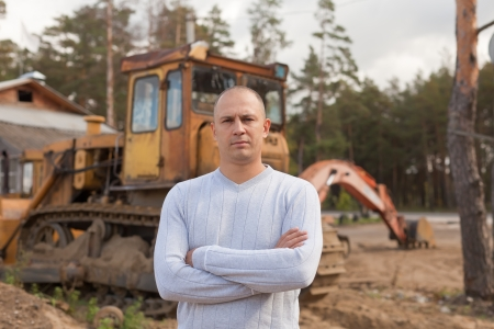 Portrait of tractor operator at workplace Stock Photo - 16516645