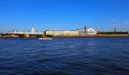 View of St. Petersburg. Vasilyevsky Island in summer day Stock Photo - 16516598