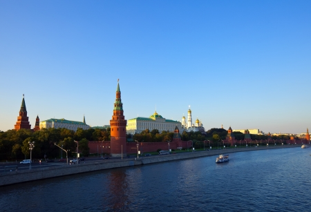 Kind to the Moscow Kremlin  and   Moskva River photo